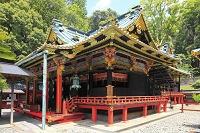 静岡県 久能山東照宮 国宝の拝殿と本殿