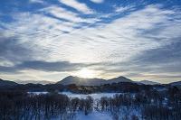福島県 小野川湖と白布山と安達太良連峰