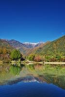長野県 駒ヶ池と中央アルプス