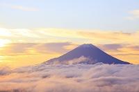 山梨県 富士川町 櫛形山林道 富士山と雲海
