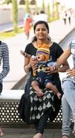 インド アウランガーバード インド人 母と子
