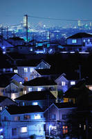 神奈川県 夜の家並み