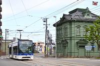 北海道 函館市交通局 9600型路面電車(後追い)とレトロ建築