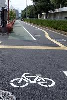 愛媛県 点字ブロックと自転車道