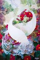 白孔雀~DUO (切り絵)