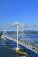 徳島県 エスカヒル鳴門から望む大鳴門橋と鳴門海峡