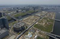 東京都 豊洲新市場建設風景