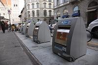 イタリア フィレンツェ 分別ゴミ収集ボックス