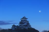 兵庫県 姫路城と月
