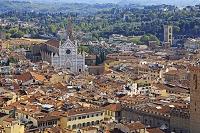 イタリア ドゥオーモの鐘楼から望むフィレンツエの街並み