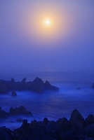 宮城県 岩井崎と月