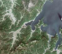 衛星画像 天の橋立