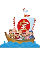 酉年の七福神と宝船