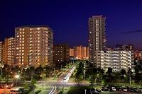 千葉県 郊外のニュータウンの夜景