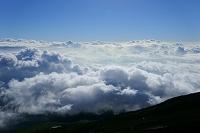 山梨県/静岡県 富士山・八合目からの雲海と青空