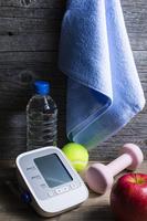 血圧計と運動用品