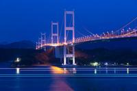 徳島県 大鳴門橋の夜景