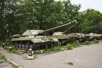 ロシア サハリン 将校会館脇の戦車