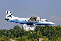 東京都 調布飛行場 着陸するドルニエ228