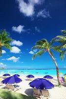 グアム タモンビーチのパラソル