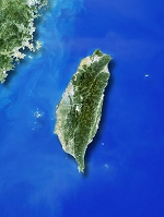 衛星写真 台湾