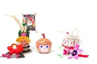 中山土人形猿土鈴と正月飾り