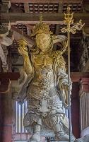 奈良市 大仏殿の多聞天像