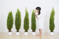 植物と女の子