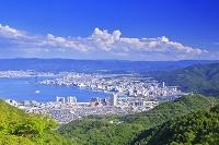 滋賀県 琵琶湖と大津市街 比叡山ドライブウェイの夢見が丘付近...