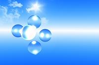 青空と球体 CG