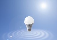 LED電球と波紋