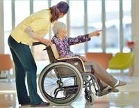 老人介護施設 癒しの時間
