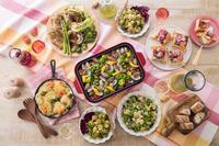 春野菜料理のテーブルイメージ