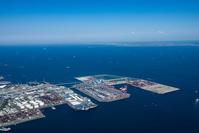 豊浦町と南本牧ふ頭と東京湾
