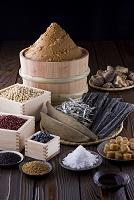 日本の乾物集合 だし食材と豆