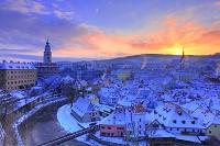 チェコ 雪のチェスキー・クルムロフ