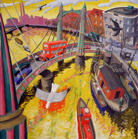 Albert Bridge, London, 1999 (oil on canvas)