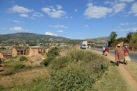 マダガスカル 中央高地の農村