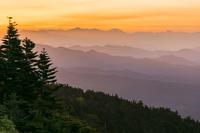 群馬県 渋峠から朝の山並み