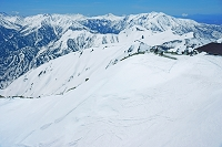 富山県 立山 雄山山頂より北アルプスの山々