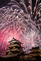 愛媛県 大洲城と川まつり花火大会