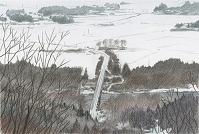 花巻・胡四王山から釜石線を望む