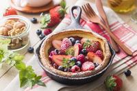 苺のダッチベイビー(ドイツ風パンケーキ)