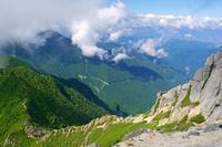 長野県 甲斐駒ヶ岳の登山道