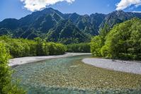長野県 梓川と六百山