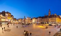 フランス リール 冬のジェネラル・ド・ゴール広場