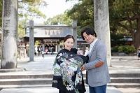 お宮参り 日本人家族写真