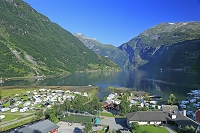 ノルウェー ガイランゲルフィヨルドとガイランゲルの街並み