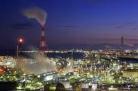 三重県 四日市コンビナートの夜景