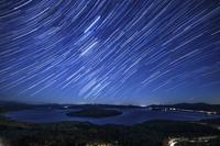 北海道 屈斜路湖と星空